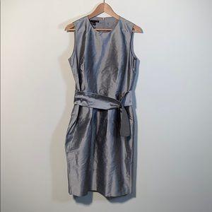 Baia Silver raw silk belted shift dress